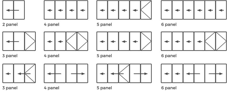 bifold doors configuration